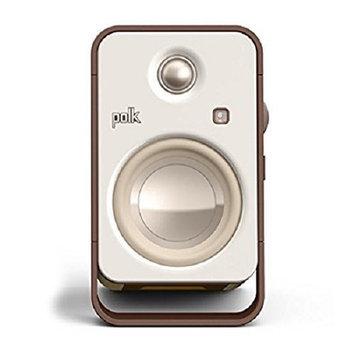 Polk Audio AM6510-A Hampden Desktop Speakers - Pair (Brown/White)