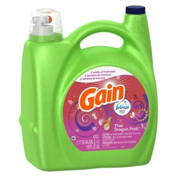 Gain Febreze Thai Dragon Fruit Scent Liquid Laundry Detergent 150 oz