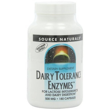 Source Naturals Dairy Tolerance Enzymes, 180 Vegetarian Capsules