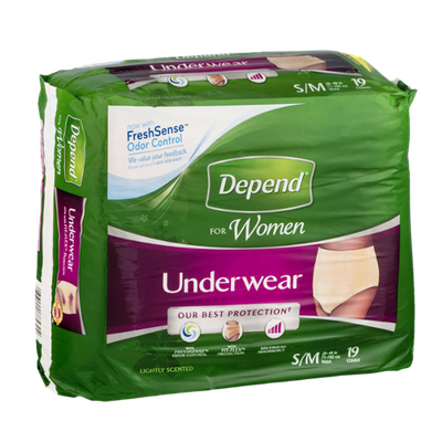 Depend For Women Underwear Small/Medium Lightly Scented - 19 CT