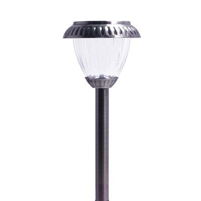 Shenzhen Jiawei Industries Co., Ltd Premium Solar 5x Brighter Outdoor Pathway Lights, Set of 4, Dark Pewter