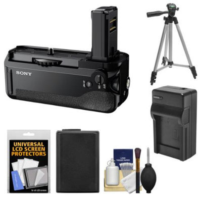 Sony VG-C1EM Vertical Battery Grip with Battery & Charger + Tripod Kit for Alpha A7, A7R & A7S Camera