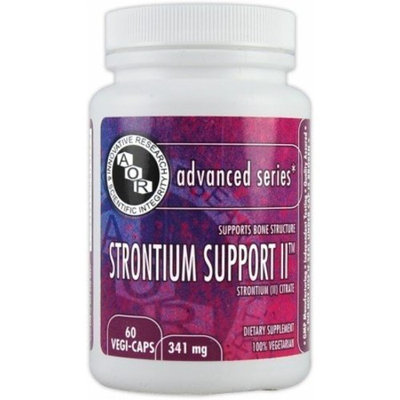 Advanced Orthomolecular Research AOR, Advanced Series, Strontium Support II, 60 Veggie Caps