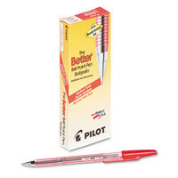 Pilot Better Ballpoint Stick Pen, Red Ink, Medium, Dozen