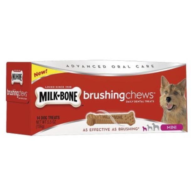 Milk-Bone Milk Bone Brushing Chews Dog Treats - 14 Count (Mini)