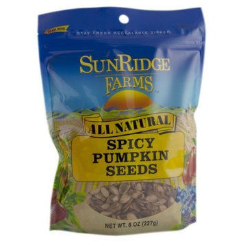 Sunridge Farms Spicy Pumpkin Seeds, 8-Ounce Bags (Pack of 12)