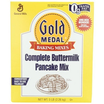 General Mills Gold Medal Complete Buttermilk Pancake Mix, 5-Pound Box (Pack of 3)