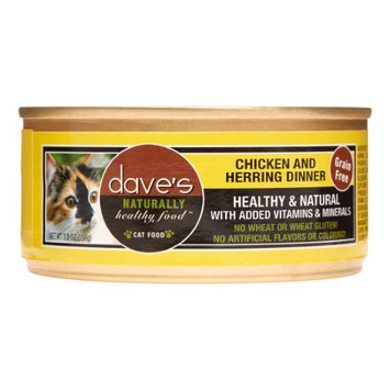 Dave's Pet Food Dave's Cat Food Grain-Free Chicken & Herring Dinner