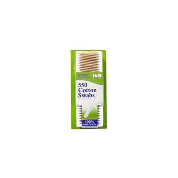 Tectron 550 550 Count Cotton Swabs with Wooden Stem Pack Of 48