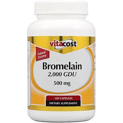 Vitacost Brand Vitacost Bromelain 2,000 GDU -- 500 mg - 120 Capsules
