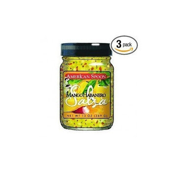 American Spoon Salsas, Mango Habanero, 14-Ounce (Pack of 3)