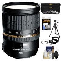Tamron 24-70mm f/2.8 Di VC USD SP Zoom Lens (BIM) with Tripod + 3 (UV/ND8/CPL) Filters + Accessory Kit for Nikon D3100, D3200, D5100, D7000, D700, D800, D4 Digital SLR Cameras