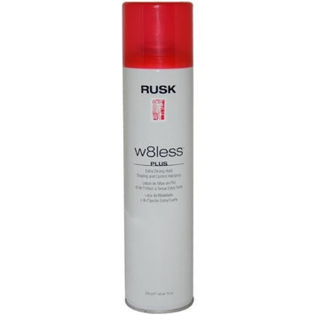 W8less Plus Extra Strong Hold Shaping and Control Hair Spray by Rusk for Unisex - 10 Ounce Hair Spray