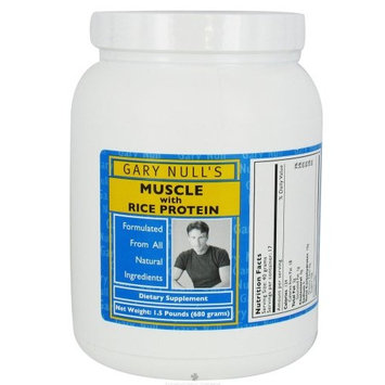 Gary Null - Muscle with Rice Protein - 1.5 lbs