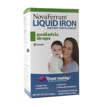 NovaFerrum Pediatric Drops, Liquid Iron Supplement, Raspberry Grape, 4 fl oz