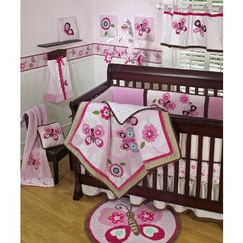 Sumersault Dancing Butterflies 4 Piece Crib Set, Pink (Discontinued by Manufacturer)