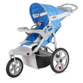 Instep InSTEP Safari Single Jog Stroller - Blue with Gray