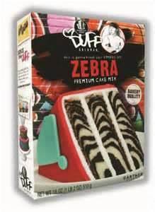 Duff Zebra Cake Mix