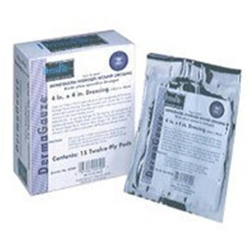 Dermarite Industries Dermagauze Impregnated Hydrogel Wound Dressing, Latex Free, Size: 4 X 4 Inches - 15 / Box