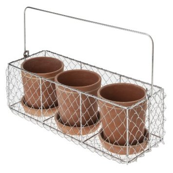 Smith & Hawken Terracotta Pot Trio