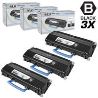 LD © Compatible Lexmark E360H11A Set of 3 High Yield Black Laser Toner Cartridges for E360/E460 Printers