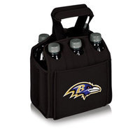 Nfl - Baltimore Ravens Picnic Time NFL Baltimore Ravens Six Pack Digital Print Insulated Holder