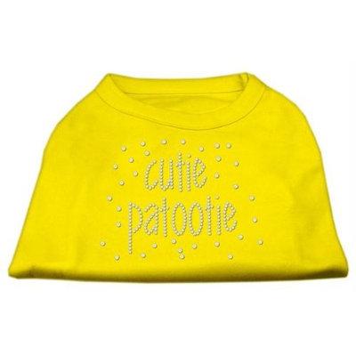 Ahi Cutie Patootie Rhinestone Shirts Yellow XL (16)