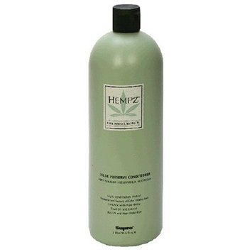 Hempz Pure Herbal Extracts Color Preserve Conditioner, 33.8 fl oz (1 l)