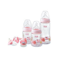 NUK My First Nuk 0-6 Months Nature Design Starter Set, Pink