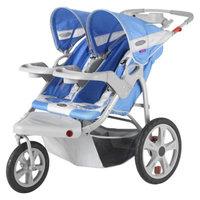 Instep Safari Swivel Wheel Double Jogging Stroller - Green/Gray