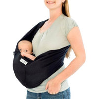 Karma Baby Organic Cotton Twill Baby Sling - Black - Size L