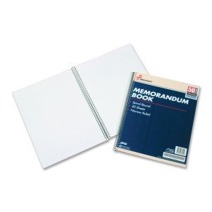 Skilcraft Memo Books, 8 1/2in. x 11in, White, Pack Of 12 (AbilityOne 7530-00-286-6952)