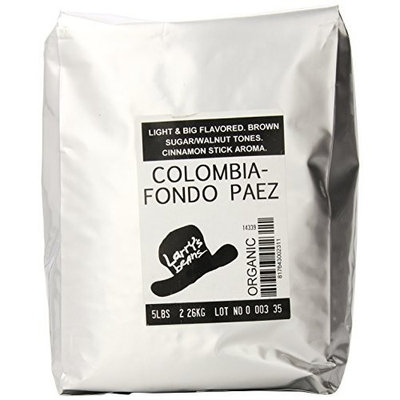 Larry's Beans Fair Trade Organic Coffee, True Colombia, Whole Bean, 5-Pound Bag