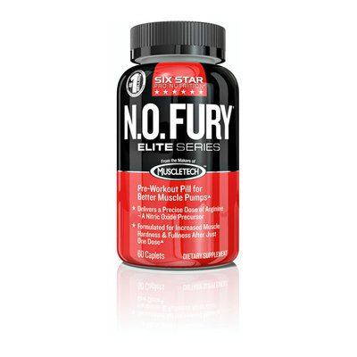 Six Star Pro Nutrition Elite Series Professional Strength N.O. Fury Caplets
