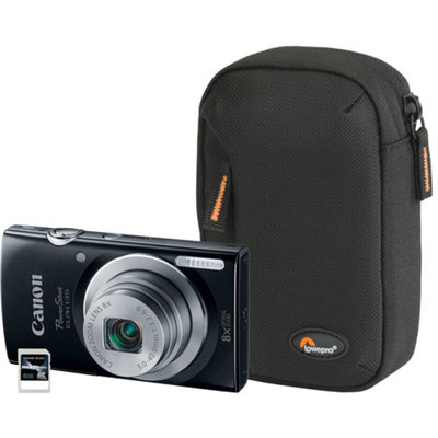 Canon Black PowerShot ELPH 135 9150B001-3A-KIT Digital Camera with 16 Megapixels and 8x Optical Zoom