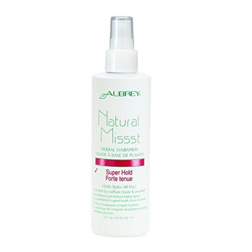 Natural Missst Herbal Hairspray Mist-Super Hold Aubrey Organics 8 oz Spray