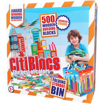Citiblocs Citibloc CTBIN500C 500 Piece Multicolor Building Set with Storage Bin
