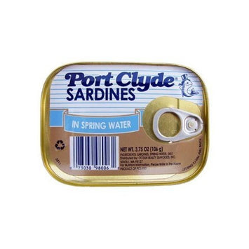 Port Clyde Sardines in Spring Water 3.75 Oz (Case of 10)