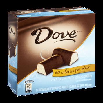 Dove Dark Chocolate 60 Calories Vanilla Ice Cream - 14 CT