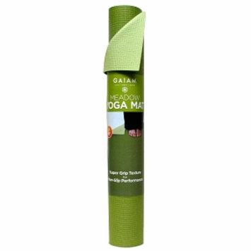 Gaiam Yoga Mat 3mm, Meadow, 1 ea