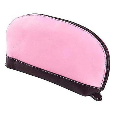 Clava Accessory Pouch with Cafe Trim - Vachetta Pink