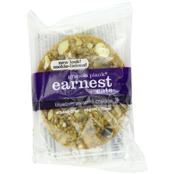 Earnest Eats Vegan Granola Planks High in Fiber, Omega-3s and Protein - Blueberry Vanilla Crackle - (Case of 6 - 3 oz)