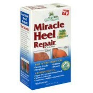 Miracle of Aloe Miracle Heel Repair Cream 4 Oz Soothe Cracked, Dry, Rough, Hard Heels and Restore Soft Skin Instantly! If Your Heels Are in Pain, So Rough They Snag Your Stocking, You Have to Try Miracle Heel Repair Cream! Fast Acting Ingredients Work to Gentle Soothe Cracked, Hard Heels! Made with Exclusive Soothing Ultra Aloe Gel and Healing Tea Tree Oil. Alternative to Dr. Scholls, Nivea, Flexitol, Gold Bond, Jergens