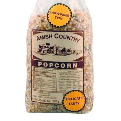 Ladyfinger Amish Country Popcorn, 2-1 lb Bags