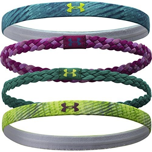 Under Armour UA Graphic Headband - 4-Pack - Women's Rebel Pink/White, One Size