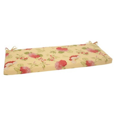 Pillow Perfect Outdoor Bench Cushion - Yellow/Red Floral