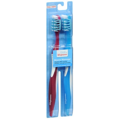 Walgreens Xtreme Massage Toothbrushes, Full/Soft, 2 ea