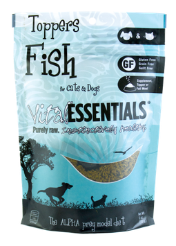 Vital Essentials Freeze Dried Fish Toppers for Cats and Dogs