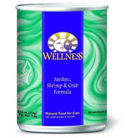 Wellness Natural Food for Pets Wellness Canned Cat Food, Sardine Shrimp and Crab Recipe, 24-Pack of 3-Ounce Cans