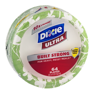 Dixie Ultra Plates - 64 CT